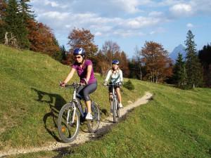 Sport und Spaß beim Fahrradfahren. Quelle: Wellness-Hotel Sommer