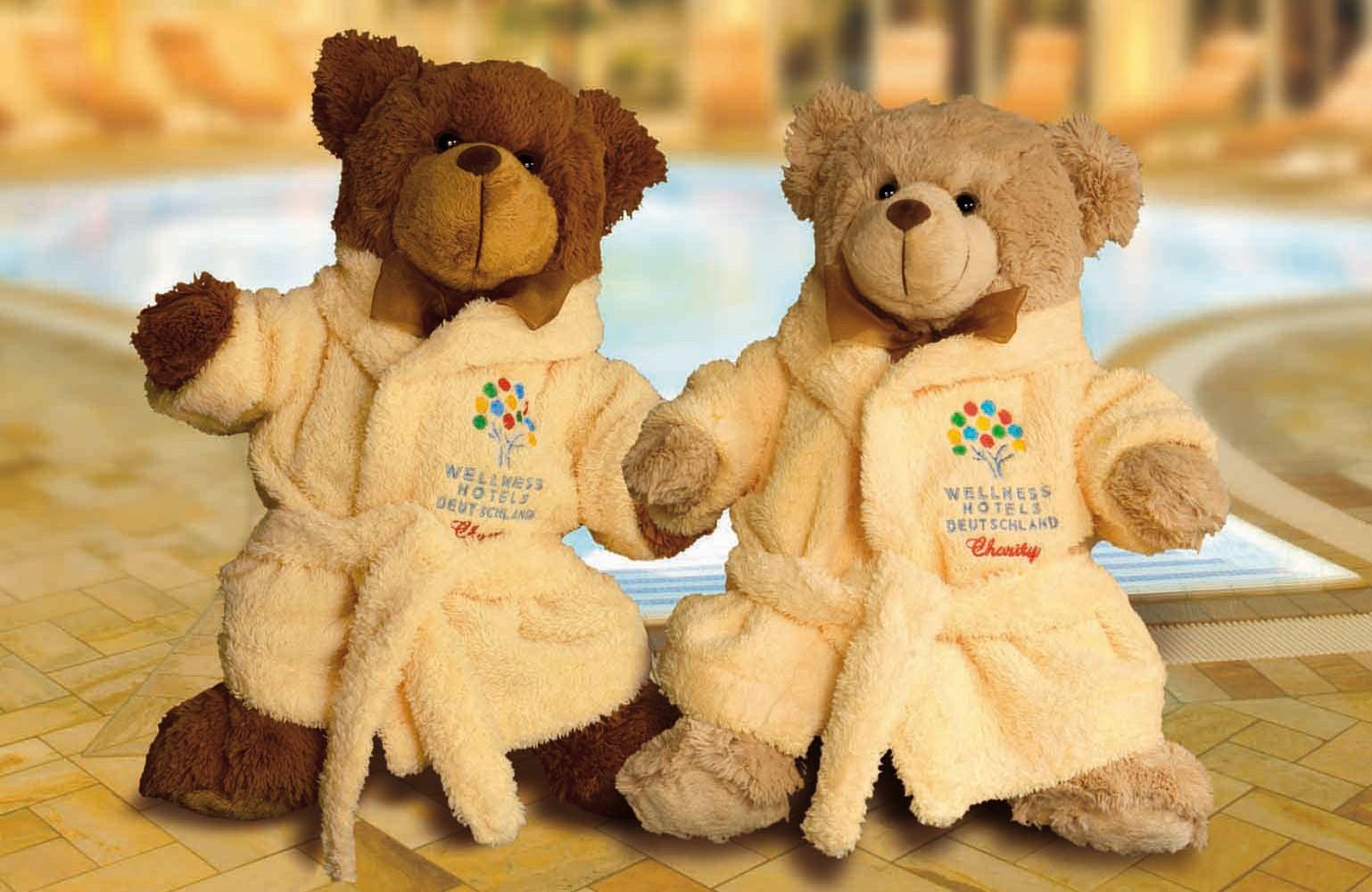 Unzertrennliche Freunde: die Wellness-Teddys