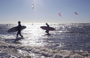 Sport auf dem Wasser an der Nordsee