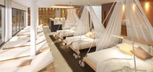 Familienhotel Sonnenpark - Ruhezone im neuen Spa-Bereich