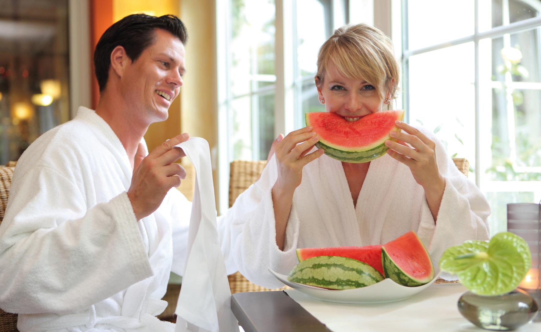 Wassermelone erfrischt - hier im Vital- & Wellnesshotel Zum Kurfürsten