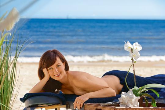 Massage im Freien. Im Strandhotel Ostseeblick