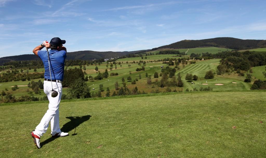 Golfer auf dem Golfplatz in Bad Birnbach