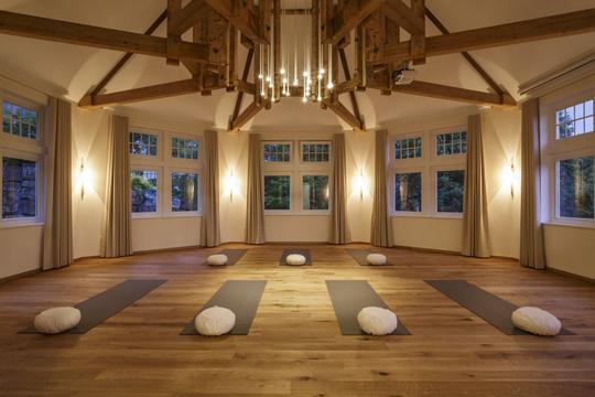 Yoga-Raum im Wellnesshotel