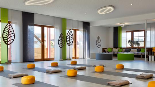 Yogaraum im Wellnesshotel