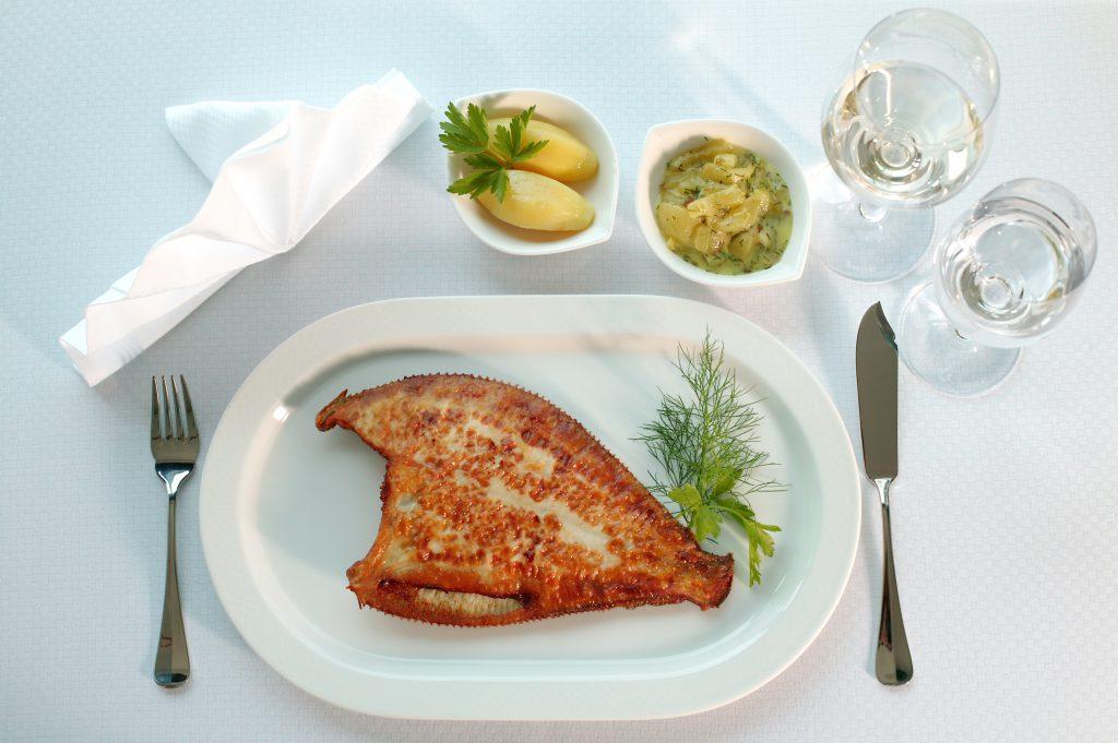 Fischgericht von Hotel Neptun