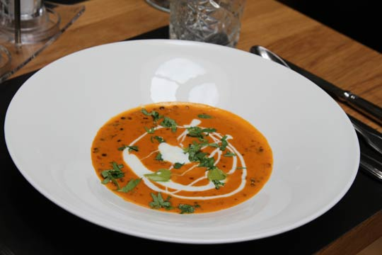 Leckere Currysuppe aus dem Jammertal Golf & Spa-Resort