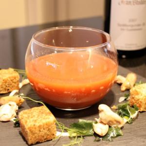 Vorspeise tomatensuppe Suppe Rezept paprika ostseeblick